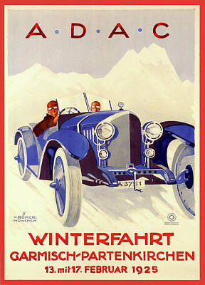 Painting - Adac Poster by Gary Grayson