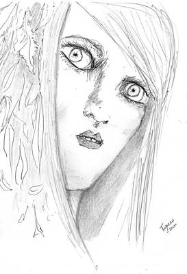 Drawing - Adal by Dan Twyman