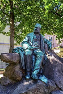 Photograph - Adalbert Stifter Statue In Linz, Austria by Elenarts - Elena Duvernay photo