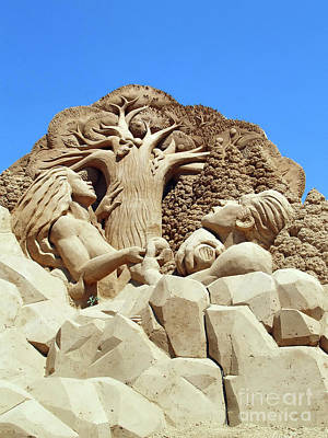 Photograph - Adam And Eva Sand Sculpting Photography by S Art