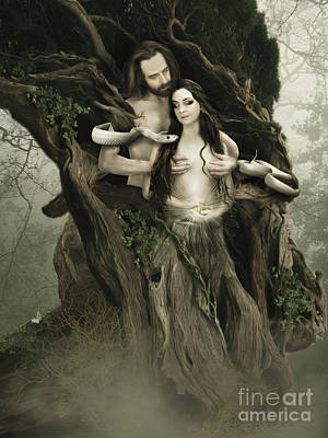 Digital Art - Adam And Eve by Babette Van den Berg