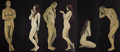 Painting - Adam And Eve by Jovana Kolic