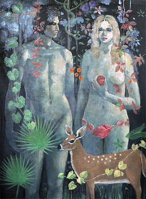 Adam And Eve Original by Maury Hurt