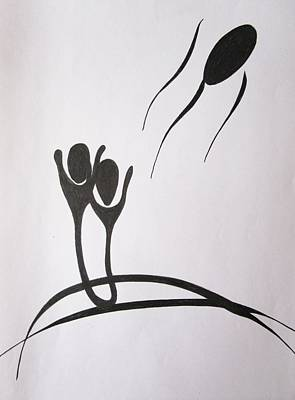 Passionate Drawing - Adam And Eve by Rosita Larsson