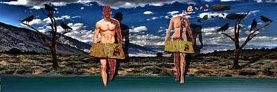 Tendency Mixed Media - Adam And Eve by Solomon Barroa