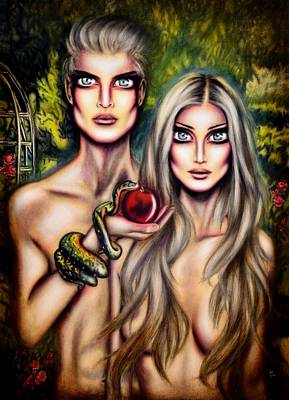With Scripture Painting - Adam And Eve by Tiago Azevedo