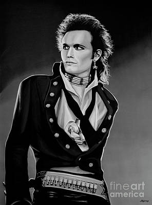 Black Stand Painting - Adam Ant Painting by Paul Meijering