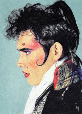 Power Painting - Adam Ant by Taylan Apukovska