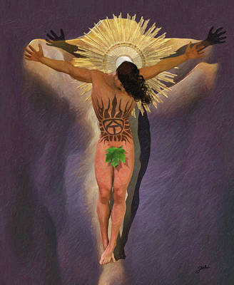 Crucifix Art Painting - Adam Crucified by Joaquin Abella