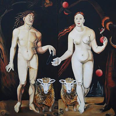 Painting - Adam, Eve and Dolly by Lynda Diamond