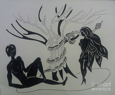 Adam, Eve And The Tree Of The Knowledge  Original
