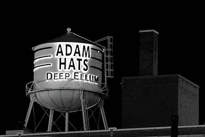 Photograph - Adam Hats Deep Ellum Bw by Rospotte Photography