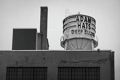 Photograph - Adam Hats - Deep Ellum Architecture - Dallas Black And White Edition by Gregory Ballos