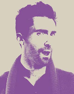 Adam Levine Maroon 5 Vector Pop Art Portrait Art Print by Design Turnpike