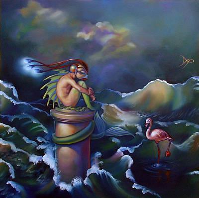 Merman Painting - Adam by Patrick Anthony Pierson