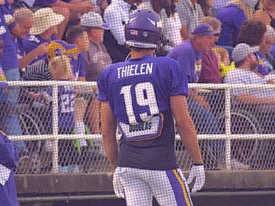 Photograph - Adam Thielen With Purple Effect by Kyle West