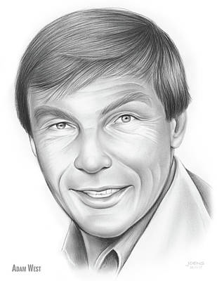 Drawings Rights Managed Images - Adam West Royalty-Free Image by Greg Joens