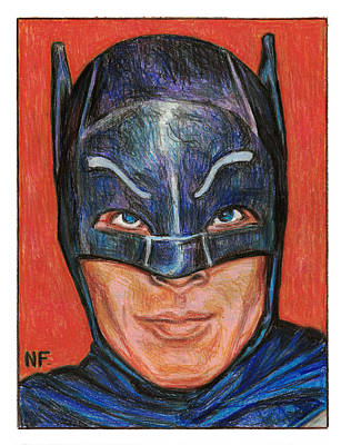 Dc Comics Drawing - Adam West Is Batman by Neil Feigeles