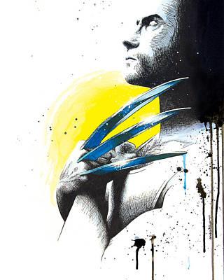 Wolverine Drawing - Adamantium by Amber Bambler Keller