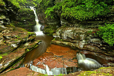 Photograph - Adams Falls Landscape by Adam Jewell