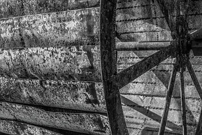 Photograph - Adam's Mill Water Wheel by Melissa Lane