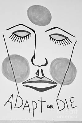 Adapt Or Die Art Print by Lisa Kleiner