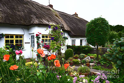 Photograph - Adare Cottages by Andrew Michael