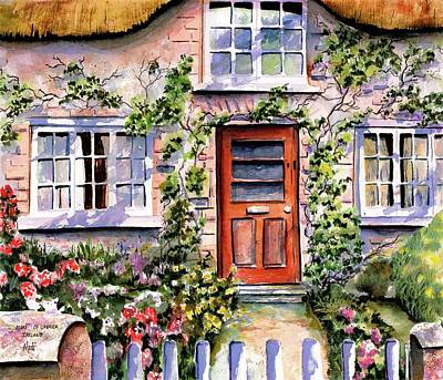 Adare Ireland Cottage Art Print