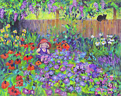 Painting - Ada's Garden by Peggy Johnson