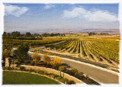 Grapevines Painting - Addamo Vineyard by Patricia Stalter