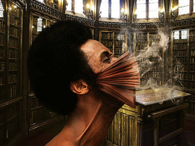 Digital Art - Addicted To Books by Karin Claesson