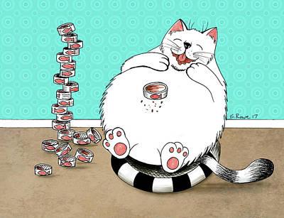 Drawing - Addicted To Tuna by Shawna Rowe