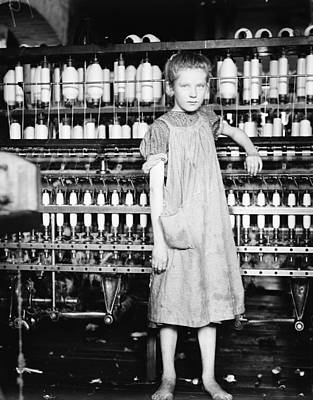 Food And Flowers Still Life Rights Managed Images - Addie Card, 12 years. Spinner in North Pormal i.e., Pownal Cotton Mill. Vt., 1910, lewis hine Royalty-Free Image by Lewis Hine