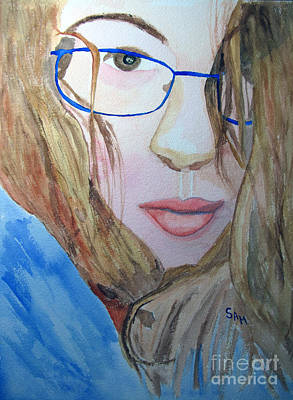 Painting - Addie In Blue by Sandy McIntire