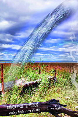 Adding Fresh Water Shortly Art Print by Cathy  Beharriell
