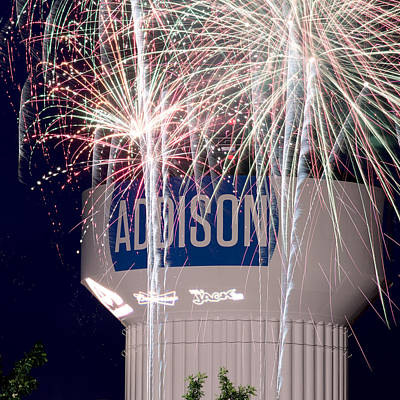 Photograph - Addison Kaboom Town Sq 2015 by Rospotte Photography