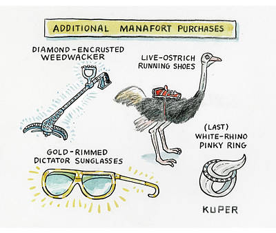 Drawing - Additional Manafort Purchases by Peter Kuper