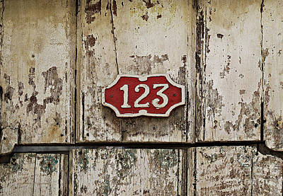 Photograph - Address Plaque by Ethna Gillespie