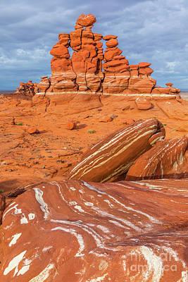 Moenkopi Sandstone Photograph - Rock Art - Adeii Eechii Cliffs by Henk Meijer Photography