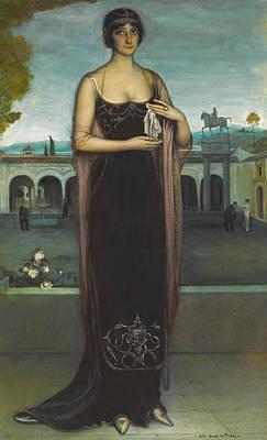 Adela Painting - Adela Carbone. The Tanagra by Julio Romero de Torres