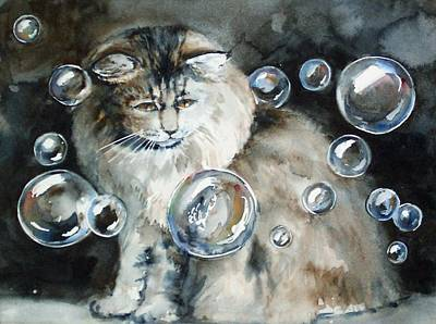 Painting - Adelaide And Bubbles by Jane Loveall