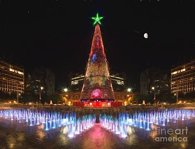 Photograph - Adelaide Christmas Lights  Vg by Ray Warren