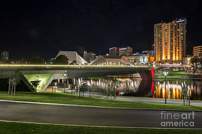 Photograph - Adelaide Riverbank At Night II by Ray Warren