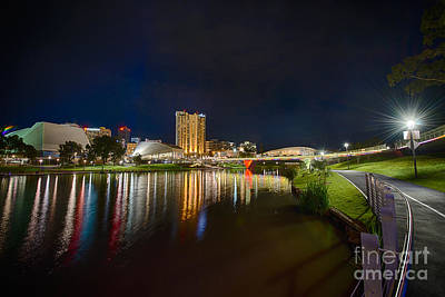 Photograph - Adelaide Riverbank At Night Vi by Ray Warren