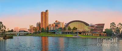 Photograph - Adelaide Riverbank Panorama by Ray Warren