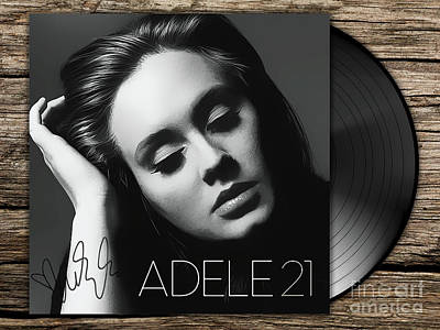 Adele Digital Art - Adele 21 Art With Autograph by Kjc