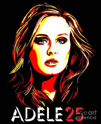 Adele Digital Art - Adele 25-1 by Tim Gilliland