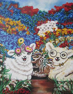 Painting - Chloe The   Flying Lamb Productions          Chip And Dip Fill The Feduciary Of Fidelity  by Sigrid Tune