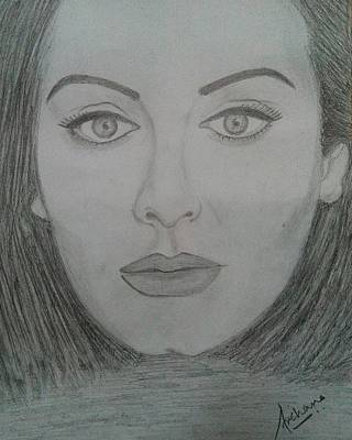 Adele Drawing - Adele by Archana Gore