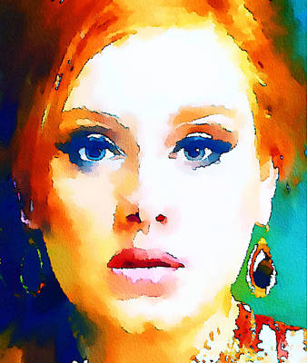 Adele Digital Art - Adele Colorful by Yury Malkov